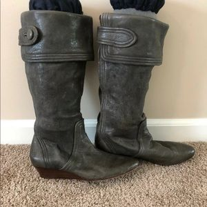 """Frye """"Sam Button"""" wedge boots"""